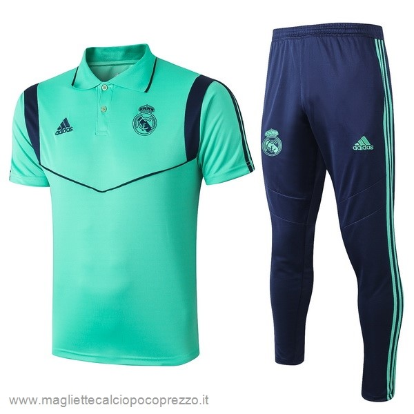 Comprare Set Polo Real Madrid 2019 2020 Verde Blu