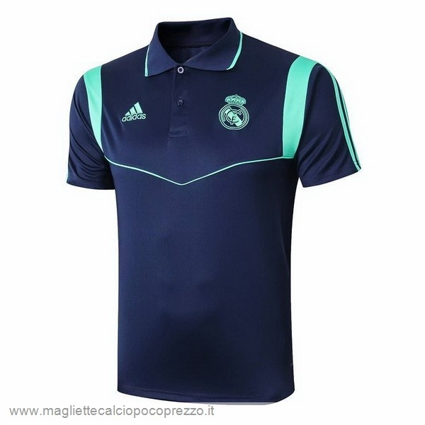 Comprare Polo Real Madrid 2019 2020 Blu Verde